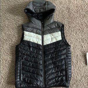 Calvin Klein full zip vest with hood